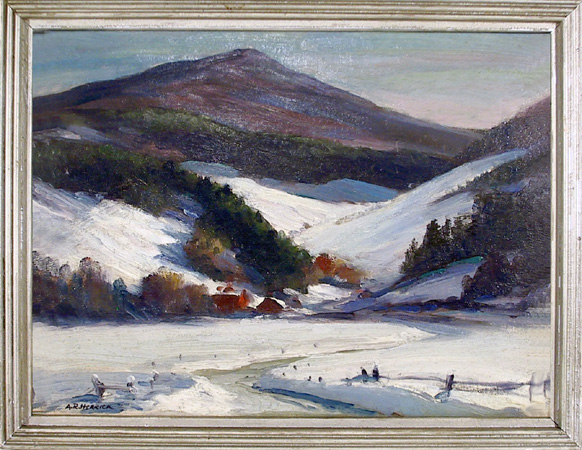 Arthur R. Herrick, Oil on Canvas Painting,