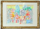 Charles Cobelle Framed Watercolor Painting