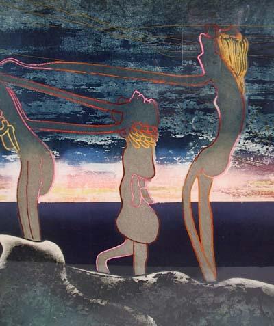 Roberto Matta, S/N Aquatint Etching, 1975