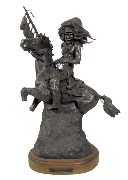G.C. Gerry Wentworth Bronze Sculpture, Indian
