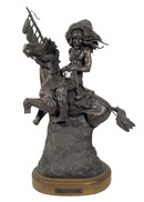 G.C. Gerry Wentworth Bronze Sculpture, Indian