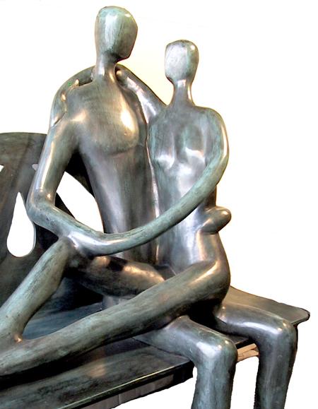Alamanzor Mexican Bronze Sculpture, Ilusion