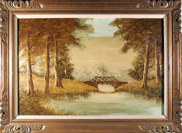 Original Oil on Canvas Painting, Landscape