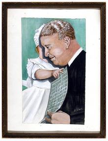 M. Klein Painting on Paper, Portrait