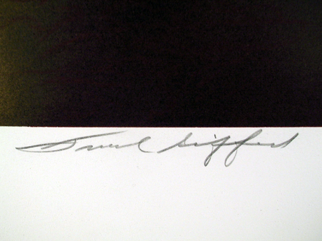Robert Peak Signed Lithograph Frank Gifford