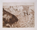 Claude Monet Etching, Rocher de Belle-Isle