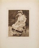 Pierre-August Renoir Etching, La Femme au Chat