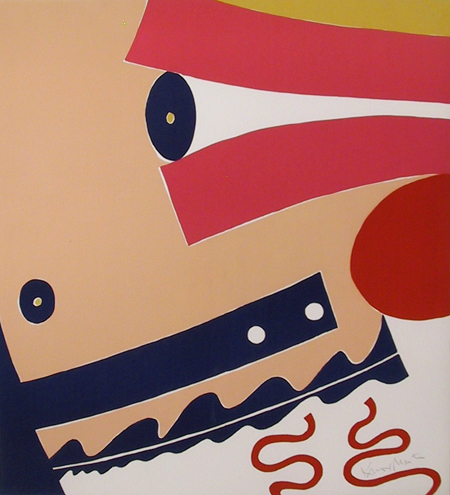 Knox Martin Silkscreen, Abstract Expressionist