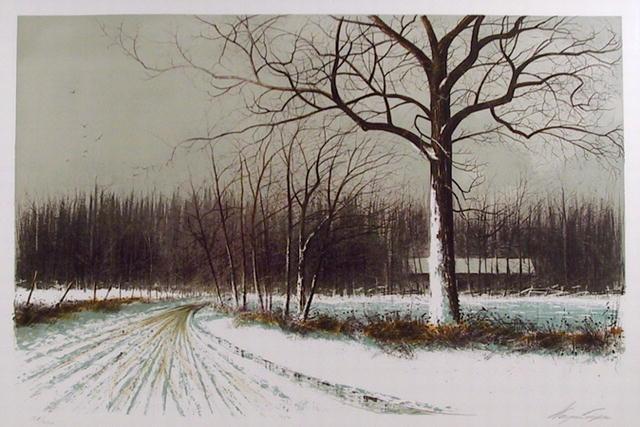 Wayne Cooper Signed Landscape Print, Spring