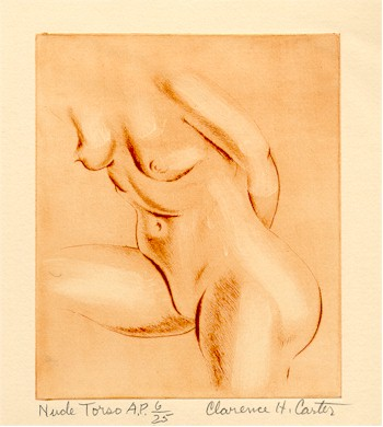 Clarence Holbrook Carter Signed Etching, Nude