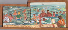 Red Grooms, At the Beach, Oil Painting