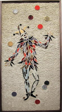 Hohenberg large stone & tile collage, Jester