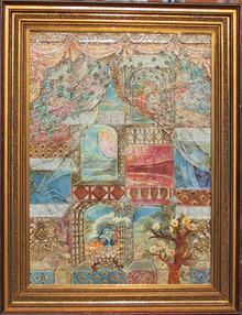 Nina Usacheva-Green Oil on Canvas Painting
