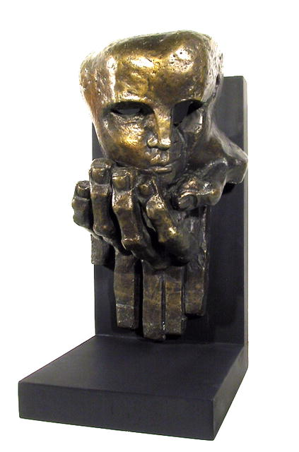Ernst Neizvestny Bronze Sculpture, Face on Hand