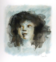 Leonor Fini Signed Lithograph, Portrait of Girl