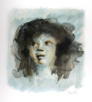 Leonor Fini Signed Lithograph, Portrait of Girl
