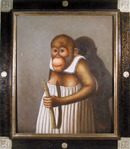T. Isaac, Monkey, Oil Painting
