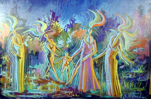 Giuliano Ottaviani Italian Oil Painting