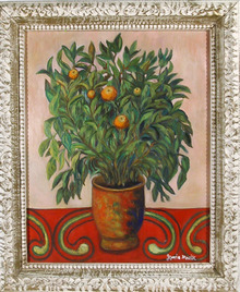 Jennie Novik, Orange Tree, Oil Painting