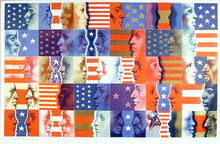 Colleen Browning Lithograph Union Mixer Flag