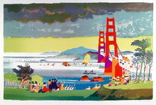 Dong Kingman, Golden Gate Bridge, Signed