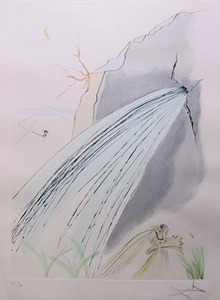 Salvador Dali, The Rock, Signed Color Etching