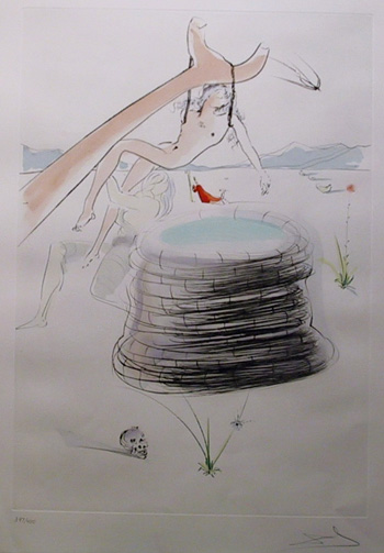 Salvador Dali, Joseph, Color Etching