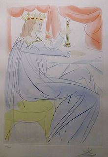 Salvador Dali, King Solomon, Color Etching