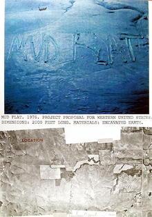 Dennis Oppenheim Lithograph, Mud Flat