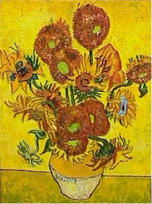 Daviak, Vaso di Gira Soli, after Van Gogh