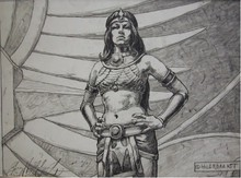 Tim Hildebrandt Original Pencil Drawing,The