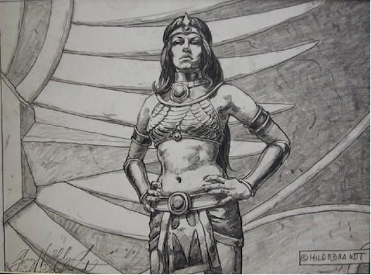 Tim Hildebrandt Original Pencil Drawing,The