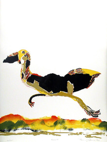 Benny Andrews, Moving On, Lithograph