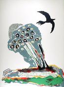 Benny Andrews, Black Bird, Lithograph