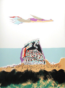 Benny Andrews, Glider, Lithograph