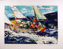 LeRoy Neiman, North Seas Sailing, Serigraph