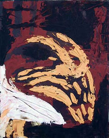 Antonio Oil on Canvas Painting, Goat