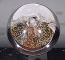 Collectible Glass Paperweight signed FTM