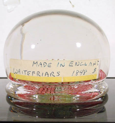 Collectible Glass Paperweight, Whitefriars 1898