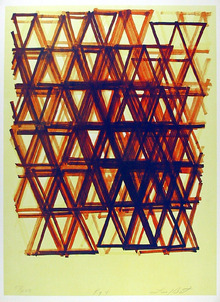 Leo Bates 1978 Lithograph, Abstract Rhythm