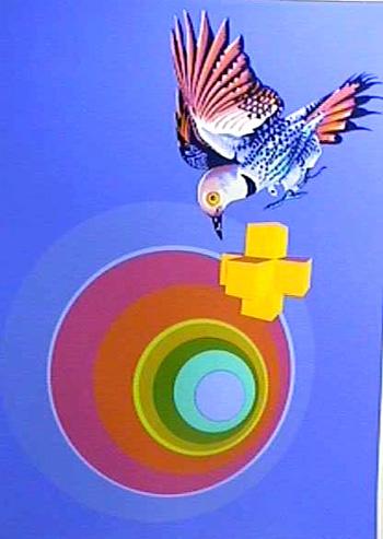 Rita Simon S/N Serigraph, Abstract & Bird