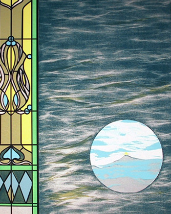 Rita Simon S/N Serigraph, Stained Glass Window