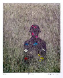 K.B. Hwang, Mezzotint, Homage to Magritte