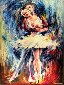 Leonid Afremov Oil Painting, Romeo & Julliet