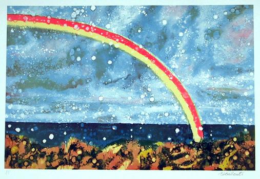 Antonio Recalcati S/N Serigraph, Rainbow