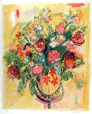 Wayne Ensrud Lithograph, Floral Still Life
