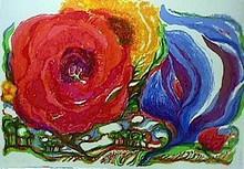 R.J. Christensen, S/N Lithograph Sky Flowers
