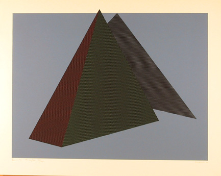 Jean-Marie Haessle, OP Art Serigraph Bermuda