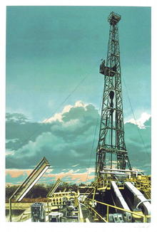 Tom Blackwell S/N Serigraph, Oil Well