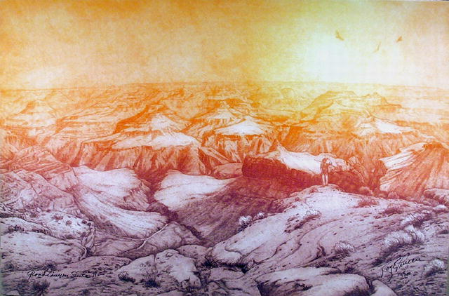 Roy Purcell, Western Etching, Grand Canyon